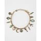 FULL TILT Leaf & Turquoise Charm Bracelet