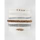 FULL TILT 6 Piece Leaf & Bead Bracelets