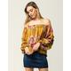 SANS SOUCI Floral Womens Off The Shoulder Top