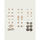 FULL TILT 20 Pairs Key & Bow Stud Earrings