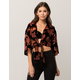 IVY & MAIN Kimono Sleeve Tie Front Womens Crop Top