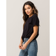 FULL TILT Essentials Roll Cuff Sleeve Womens Tee
