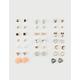 FULL TILT 20 Pairs Heart & Owl Stud Earrings