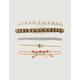 FULL TILT 5 Piece Leaf & Diamond Bracelets