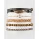FULL TILT 5 Pack Leaf Wrap & Beaded Bracelets