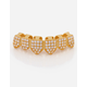 KING ICE 14K Gold CZ Studded Bottom Teeth Grillz
