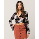 SOCIALITE Floral Bell Sleeve Womens Wrap Top