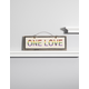 One Love Wooden Sign