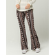 IVY & MAIN Floral Medallion Womens Flare Pants
