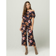 IVY & MAIN Ruffle Womens Off The Shoulder Jumpsuit