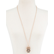 FULL TILT Diamond Owl Long Necklace
