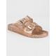 QUPID Glitter Womens Slide Sandals