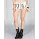 VANILLA STAR Military Flag Womens Denim Shorts