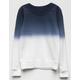 WHITE FAWN Dip Dye Girls Sweatshirt