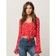 FULL TILT Floral Bell Sleeve Womens Top