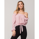 IVY & MAIN Stripe Womens Off The Shoulder Top