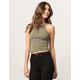 BOZZOLO Olive High Neck Womens Tank