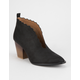 QUPID Scalloped Womens Booties