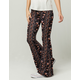 SKY AND SPARROW Floral Paisley Womens Flare Pants