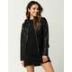 CI SONO Sweater Hood Womens Faux Leather Jacket