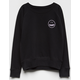 VOLCOM Smiley Face Girls Sweatshirt