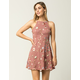 IVY & MAIN Embroidered Floral Mesh Dress