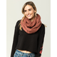 Mixed Cable Knit Infinity Scarf