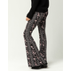 IVY & MAIN Linear Floral Medallion Womens Flare Pants