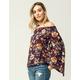 GYPSIES & MOONDUST Floral Womens Off The Shoulder Top