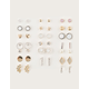 FULL TILT 20 Pairs Heart & Star Stud Earrings