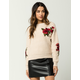 WOVEN HEART Traditional Rose Womens Sweater