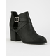 DELICIOUS Cutout Womens Booties