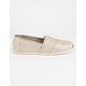 TOMS Rose Gold Glimmer Womens Classic Slip-Ons