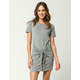 SKY AND SPARROW Tie Front Dress