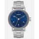 NIXON Stark Silver & Blue Watch