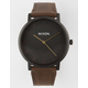 NIXON Porter Leather Black & Brown Watch