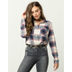 POLLY & ESTHER Double Pocket Womens Flannel Shirt