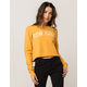 FULL TILT New York Womens Crop Sweatshirt
