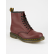 DR. MARTENS 1460 Cherry Red Smooth Mens Boots
