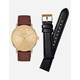 NIXON Porter Leather Gold Watch Pack
