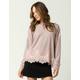 COCO & JAIMESON Marled Lace Womens Sweatshirt