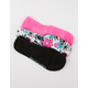 CONVERSE 3 Pack Floral Womens No Show Socks