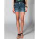 ALMOST FAMOUS Roll Cuff Womens Denim Shorts