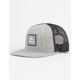 RVCA All The Way Heather Grey Mens Trucker Hat