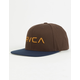 RVCA Twill Brown Mens Snapback Hat