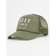 ROXY Truckin Olive Womens Trucker Hat