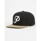 PRIMITIVE Classic P Black & Tan Mens Snapback Hat