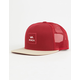 RVCA All The Way Red Combo Mens Trucker Hat