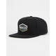 RVCA Commonwealth III Black Mens Snapback Hat
