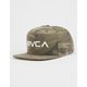 RVCA Twill Camo Green Mens Snapback Hat